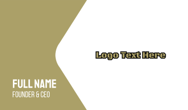 Army Wordmark Business Card