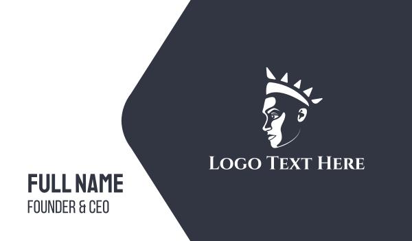 princess - Queen Princess Profile Business card horizontal design