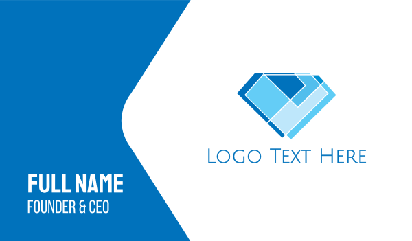 wedding ring - Mosaic Modern Diamond Business card horizontal design
