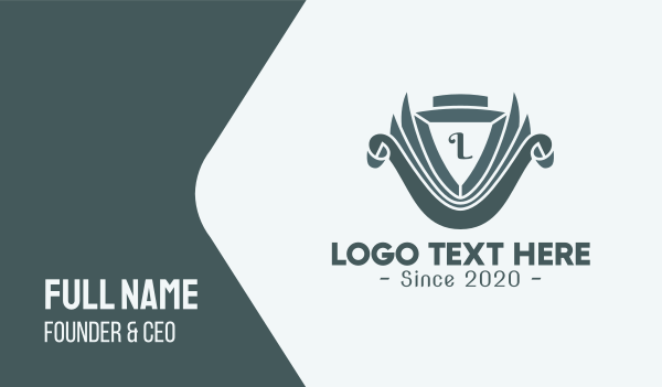 antique - Classic Emblem Lettermark Business card horizontal design