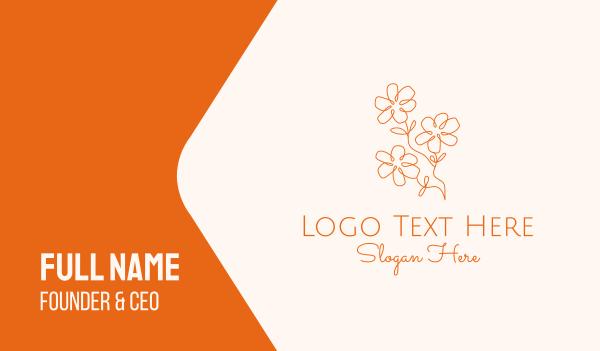 creations - Orange Flower Business card horizontal design