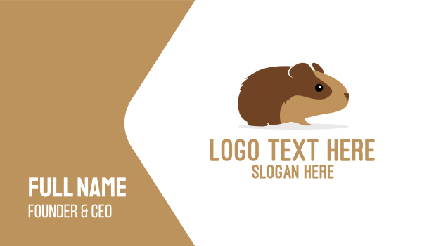 wombat - Brown Guinea Pig Business card horizontal design