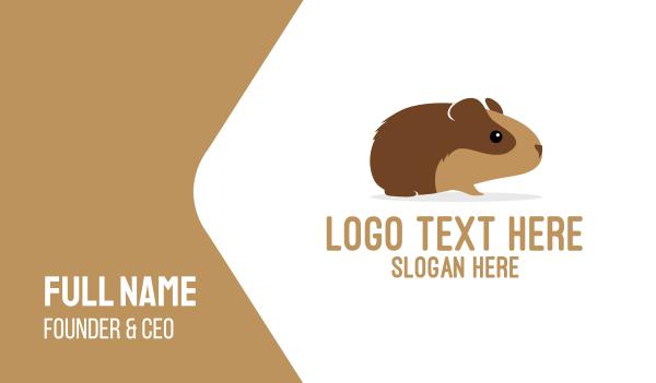 rodent - Brown Guinea Pig Business card horizontal design