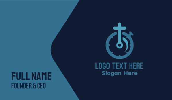 minute - Faith Timer Business card horizontal design