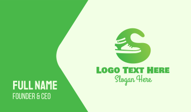 Green Sneakers Business Card
