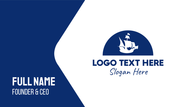 ship - Pirate Ship Business card horizontal design