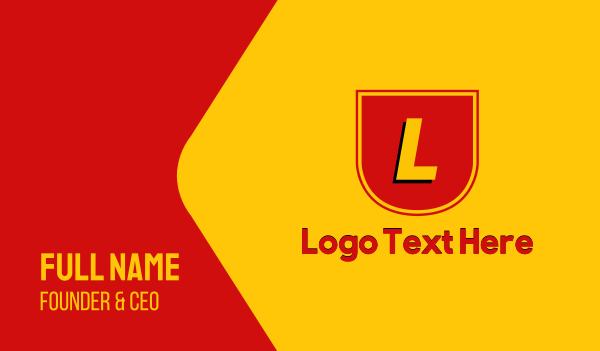turbo - Racing Team Lettermark Business card horizontal design