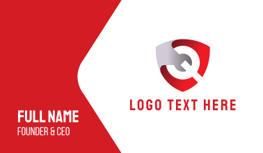 Wrench Shield Business Card
