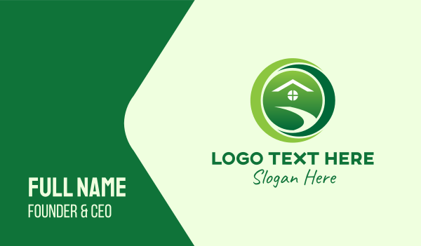 environment friendly - Crescent Eco Home Business card horizontal design
