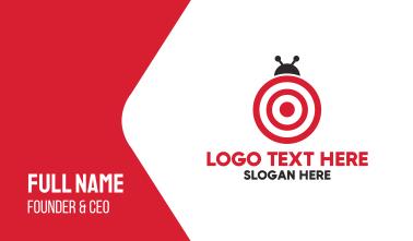 Target Bug  Business Card