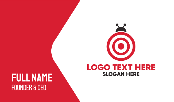 darts - Target Bug  Business card horizontal design
