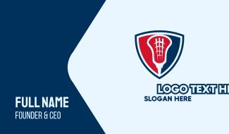 Lacrosse Emblem Shield Business Card