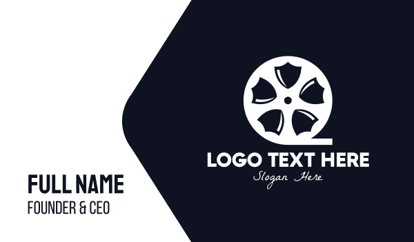 reel - Shield Movie Business card horizontal design