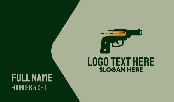 pistol - Pistol Shot Business card horizontal design