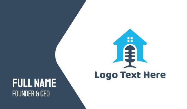 reporter - House Podcast Business card horizontal design