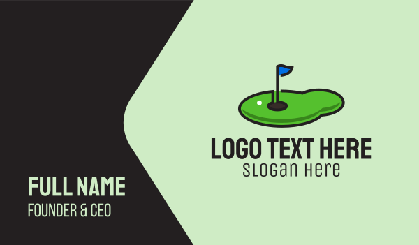 golf competition - Mini Golf Course Business card horizontal design