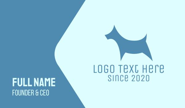 blue dog - Blue Dog Silhouette Business card horizontal design