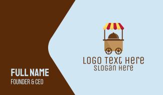 Simple Food Cart Business Card
