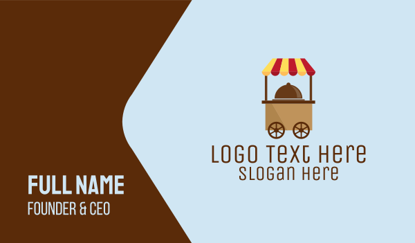 delivery service - Simple Food Cart Business card horizontal design