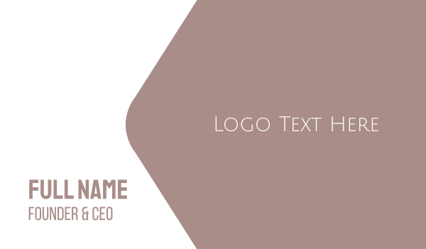 delicate - Elegant & Minimal  Business card horizontal design