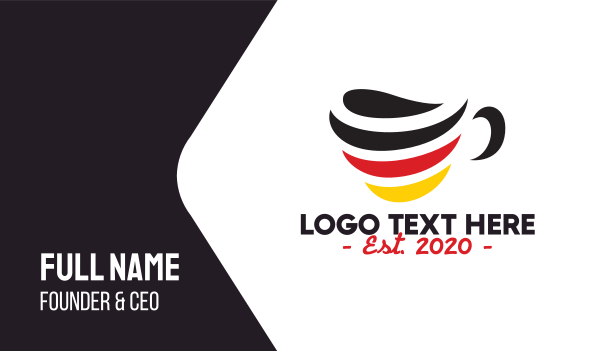 german - Germany Stripe Cafe Business card horizontal design
