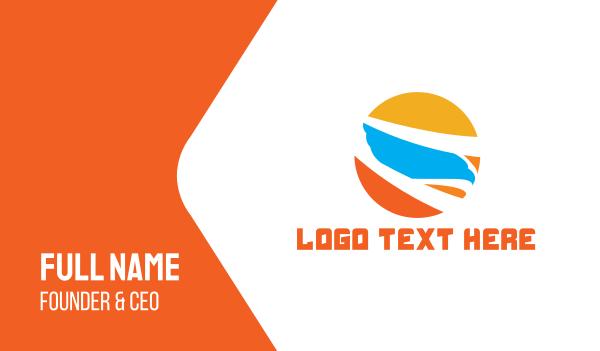 forwarding company - Bird Sun Business card horizontal design