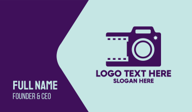 Purple Film Photography  Business Card