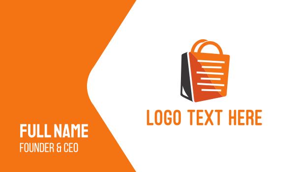 dress shop - Shopping Bag Business card horizontal design