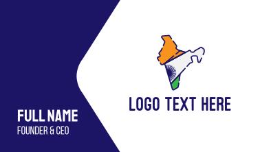 Modern India  Business Card
