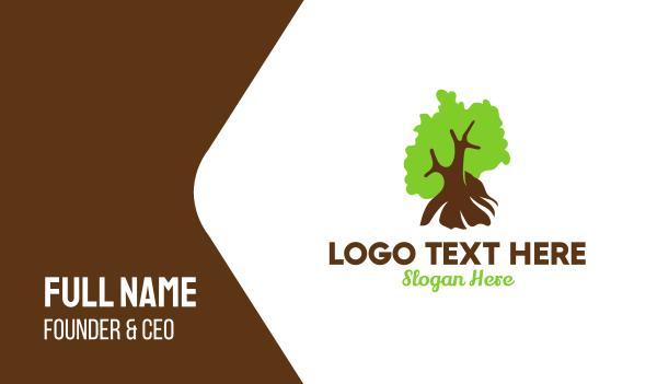 cutting - German Nature Tree Business card horizontal design