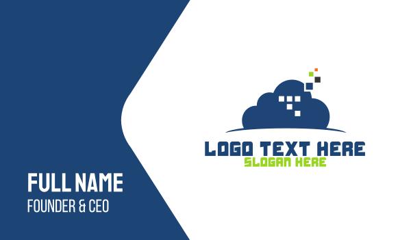 cloud service - Cloud Pixels Business card horizontal design