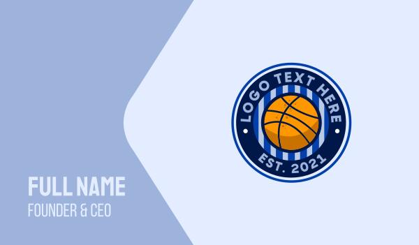 sports-cards - Basketball Sport Emblem Business card horizontal design