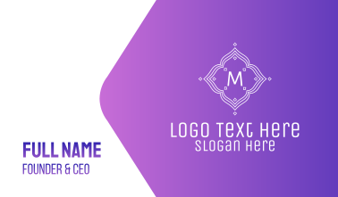 Magical Lettermark Business Card