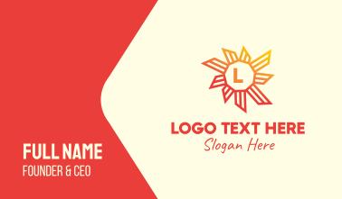 Tropical Sun Lettermark Business Card