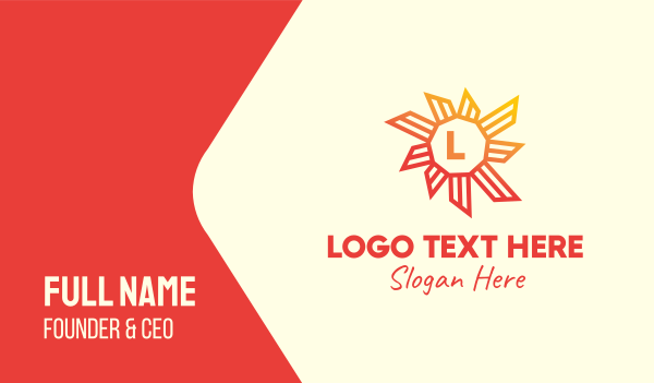 virus - Tropical Sun Lettermark Business card horizontal design