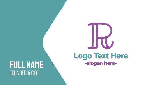 babysitting - Preschool Letter R Business card horizontal design
