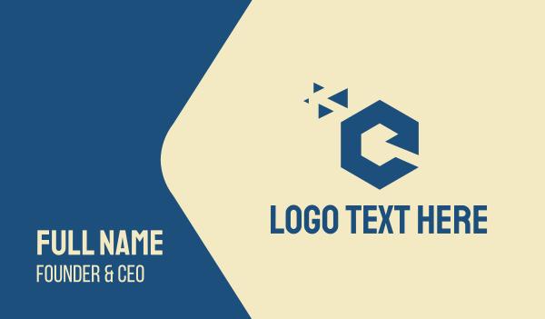 fund - Professional Hexagon Letter C Business card horizontal design