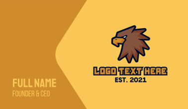 Brown Eagle Mascot Business Card