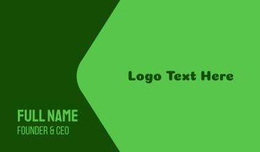 Green Friendly Wordmark Business Card