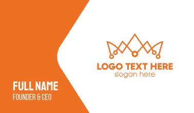 Orange Tech Crown  Business Card