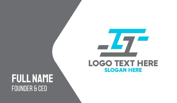 racing - Blue Grey G Business card horizontal design