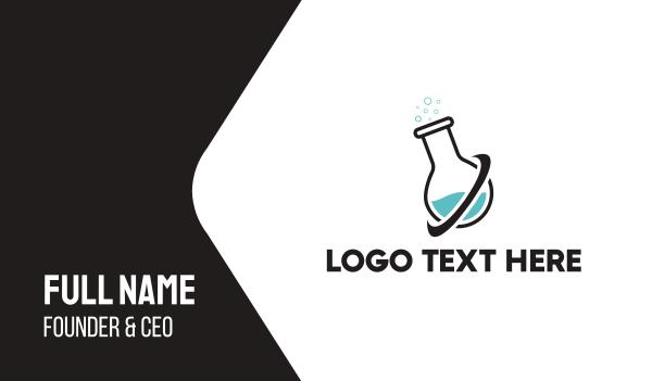 pharmacology - Lab Tube Business card horizontal design