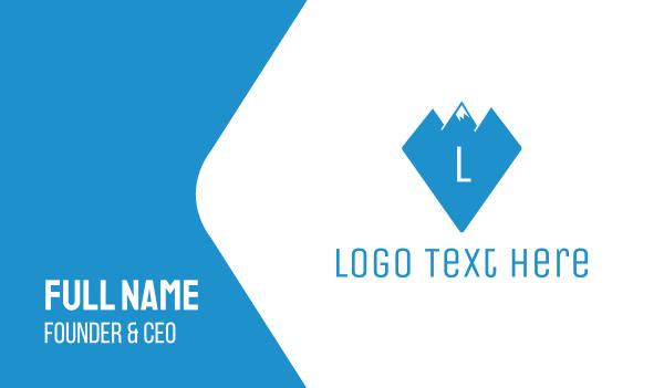 alpine - Diamond Peak Lettermark Business card horizontal design