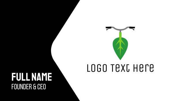 nutritionist - Leaf Bike Business card horizontal design