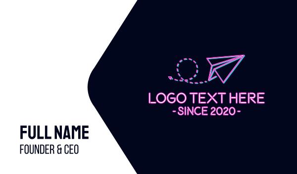 flyer - Paper Plane Travel Agency Business card horizontal design