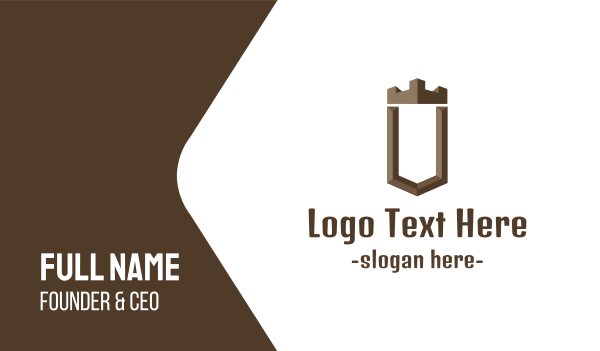 joinery - Brown U Castle Business card horizontal design