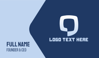 Blue Chat Business Card