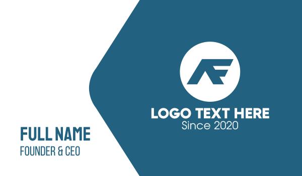 logistic services - Blue AF Monogram Business card horizontal design