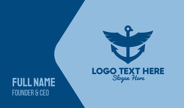 regatta - Blue Eagle Anchor  Business card horizontal design