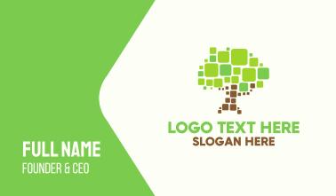 Pixel Tree Business Card